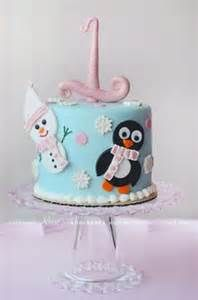 One, Snowman and Penquins ....could be cute smashcake