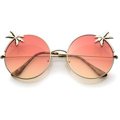 1214cf9a8d8 Indie round palm tree gradient lens sunglasses a528 ( 17) ❤ liked on  Polyvore featuring