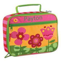 Poshy Kids - Personalized Stephen Joseph Lunch Box in Flower, $15.99 (http://www.poshykids.com/personalized-stephen-joseph-lunch-box-in-flower/)