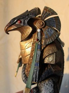 Another way to implement Egyptian themes. This example from original Stargate movie. This may be a little busy and ornate, but bits and pieces could be used/extended from a more traditional helmet shape. Egyptian Mythology, Ancient Egyptian Art, Ancient Aliens, Ancient History, Egyptian Things, Egyptian Beauty, Stargate Movie, Stargate Ships, Stargate Atlantis