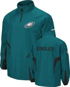 Philadelphia Eagles 1 4 zip jacket Reebok NWT new with tags NFL NFC Philly  Iggle ad2cad0c12fe6