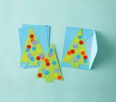 O Christmas Tree Cards | Fun, festive, DIY ideas to celebrate the holiday season.
