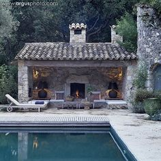 Beautiful summer / autumn evenings sitting next to the pool.  Cosy fireplace.