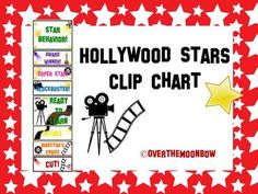 Hollywood Stars Behavior Clip Chart  from overthemoonbow on TeachersNotebook.com -  (11 pages)  - This fun, Hollywood themed behavior chart fits in well with the 'green–yellow–red' behavior system used in many schools, yet provides positive recognition for students who go above & beyond. Perfect for your themed classroom.