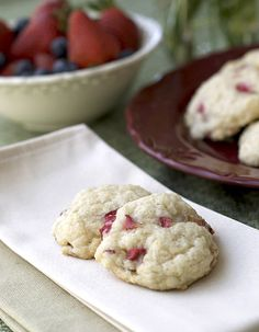 Rhubarb becomes a stand alone in this recipe. I also add in the perfect partnership of strawberries and rhubarb as and delicious alternative when both are in season. A pleasant alternative to overly sweet cookies, just the delicious taste of fruit!