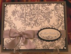 Bella Toile Wedding Card by LAM Creations - Cards and Paper Crafts at Splitcoaststampers
