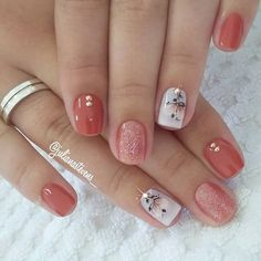 16 Stunning Nail Art Trend Ideas for - Nageldesign - Nail Art - Nagellack - Nail Polish - Nailart - Nails - Fall Gel Nails, Spring Nails, Toe Nails, Summer Nails, Autumn Nails, Coffin Nails, Fancy Nails, Pretty Nails, Sparkle Nails