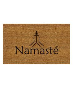 This u0027Namasteu0027 Doormat by Home u0026 More is perfect!  sc 1 st  Pinterest & Welcome Wreath Doormat | Art Work - Canvas | Pinterest | Doormat and ...