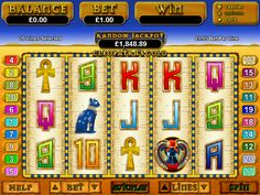 Play the Cleopatra's Gold video slots game for free anytime at 1OnlineCasino.com