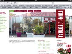 Www.tuintotaaloldenzaal.nl huisstijl, instore en website vormgeving