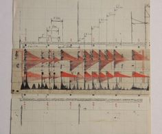 Section from graphic notated score, planning animation - Oskar Fischinger