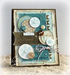 """I LOVE THIS! the circles and the pendants are just adorable together! and I totally love the """"grunge"""" look! Pickled Paper Designs: Verve Holiday Spotlight Hop: Day Two 10/31/12"""
