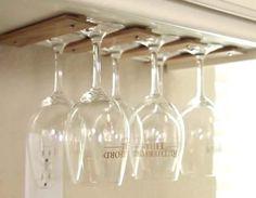 How To Make A Wine Glass Rack