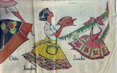 """Wednesday, September the Milwaukee Journal ran an article in the Women's Pages and Society section entitled """"A Calendar of Aprons. Modern Aprons, Poster Ads, Pin Cushions, Sewing Patterns, Challenges, Homestead, Let It Be, Potholders, Milwaukee"""