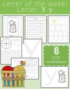 Uppercase Letter Y Pre-Writing Practice Worksheet | Kind