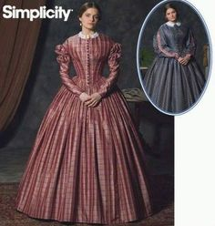 Simplicity #4400 Civil War Day Dress - Recently purchased this out-of-print pattern for Civil War Reenacting. One of my favorite patterns.