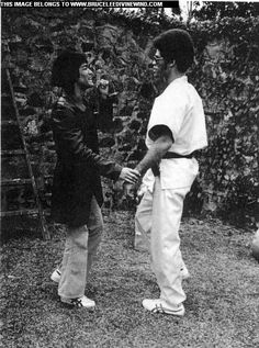 Learning from The Greatest Of All Time...Bruce Lee and Jim Kelly on set of Enter The Dragon