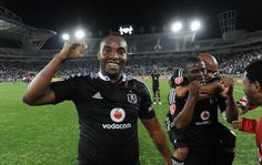 Benni McCarthy and Lucky Lekgwathi of Pirates celebrate the win | http://www.sportlive.co.za