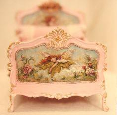 Detail of sleeping fairy on youth bed by Jill Dianne..