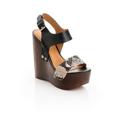 Nicole - ShoeMint. If you love height, what an adorable sandal. Also available in 2 other two-tone options. $99.98.