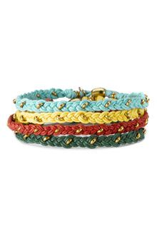 Nordstrom Friendship Bracelet- not on there anymore, but I feel like I could figure out how to make this!