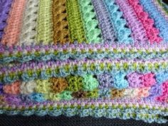 This pattern uses just one crochet stitch - Treble Crochet (this is called a Double Crochet in the US). It's an incredibly simple but very effective mixed stripe using two rows of crochet for each colour. The simplicity of it...