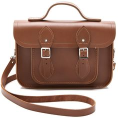 """Cambridge Satchel 11"""" Satchel with Top Handle"" ($155) ❤ liked on Polyvore featuring bags, handbags, purses, bolsas, accessories, bolsos, satchel, vintage brown, brown leather purse and leather man bag"