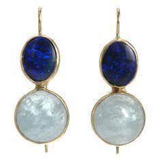 Sandra Dini Aquamarine & Blue Opal Earrings at Barneys.com