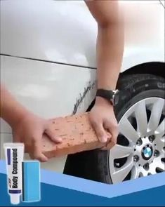 Car Scratch Repair Body Compound designed for restore original luster and color. Its activity decomposition grind sand, filler ingredients can quickly fill after decomposition and repair paint scratches. Easy to remove the oxide film on the surface and stubborn dirt, paint spot, burr, and color and luster lacquer layer again.Can rapidly remove the paint of all kinds of deep and orange peel and paint primer of scratches.Suitable for all color vehicles. Car Cleaning Hacks, Car Hacks, Cool Gadgets To Buy, Car Gadgets, Diy Home Repair, Repair Shop, Car Tools, Cool Inventions, Useful Life Hacks