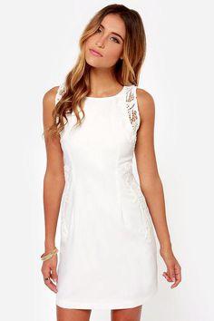#AdoreWe #Lulus Lulus One Sweet Day Ivory Lace Dress - AdoreWe.com