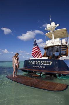 Courtship, Hinckley Talaria 48 in Lyford Cay, Bahamas.