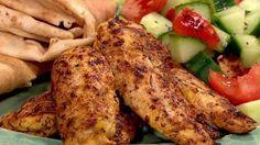 Lebanese style chicken shwarma
