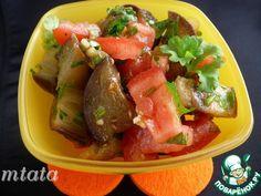 Салат из баклажанов с помидорами и чесноком - кулинарный рецепт