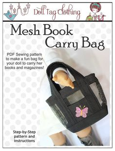 Doll Tag Mesh Book Bag Pattern for 18 Inch Dolls - PDF Download | Liberty Jane Doll Clothes Patterns For American Girl Dolls