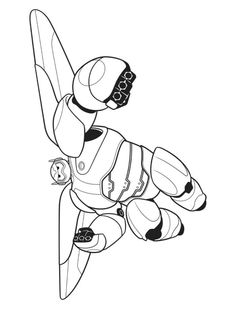Baymax Can Transform Himself Into A Combat Robot With Rocket Thrusters That Allow Him To Fly How About Print And Color This Disney Big Hero 6 Coloring