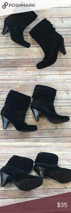 "Jessica Simpson Faux Suede Boots Jessica Simpson Faux Suede Boots. Size 8.5. Heel height 3.5"". Worn a handful of times Jessica Simpson Shoes Ankle Boots & Booties"