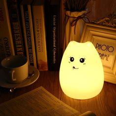 Cute Cat Colorful Night Lamp