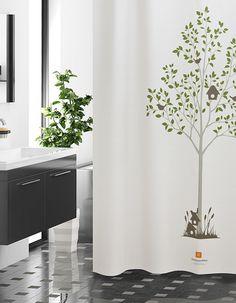 샤워커튼-서서자는 나무