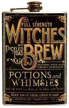 Retro A Go Go - Theatre Bizarre Witches Brew Flask - Buy Online Australia Beserk