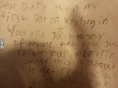 The start of my 8yearold daughter's diary: #9IMG #funny #meme