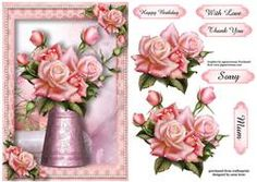 Pretty Pink Roses Water Jug