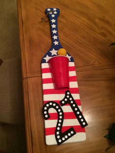 USA themed 21st birthday paddle for a fraternity brother maybe?