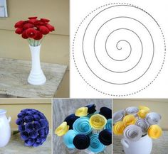 how to make paper flowers step by step easy - Google Search