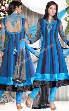 blauwe salwar