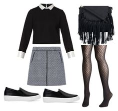 A fashion look from October 2016 featuring Maje, Tory Burch and plus size pantyhose. Browse and shop related looks. Maje, Tory Burch, Fashion Outfits, Shoe Bag, Clothing, Polyvore, Stuff To Buy, Shopping, Collection