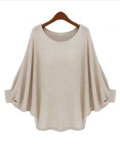 99f8dad22a797 oversized batwing top Long Sleeve Sweater
