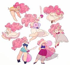 Hard days and I'm very tyred but here are some gestures of Rose Quartz from SU Giully Leão Sketch Blog