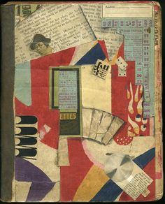 """Kitasono Katue (北園克衛) Cover of a Scrapbook """"Kitasono Katue Cover of a Scrapbook Mixed Media Collage, Collage Art, Collages, Kurt Schwitters, Scrapbook Cover, Book And Magazine, Photomontage, Drawing, Book Design"""
