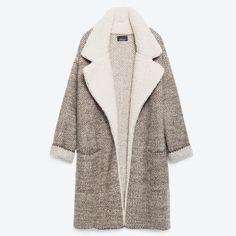 Zara Jacket with Lapels Lapel jacket with fleece details. Zara Jackets & Coats