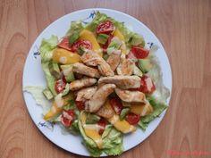 Rychle připravený salát s minimem sacharidů. Výborný k večeři. Cobb Salad, Manga, Food, Manga Anime, Essen, Manga Comics, Meals, Yemek, Eten